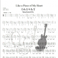 like a piece of my heart 尤克里里谱 花椒吉他教室出品